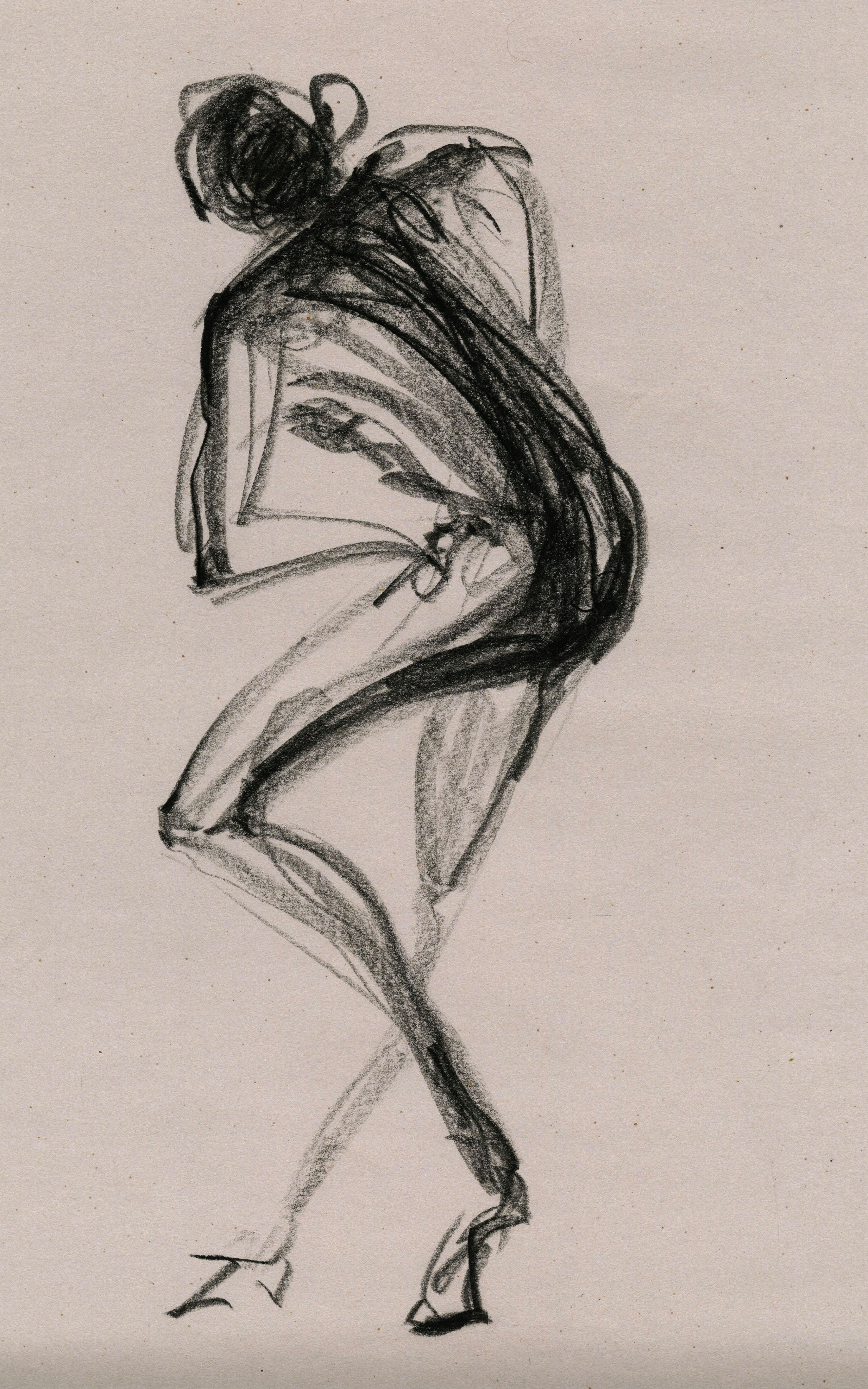 gesture drawing # conte | Drawings | Pinterest | Anatomie, Akt und ...