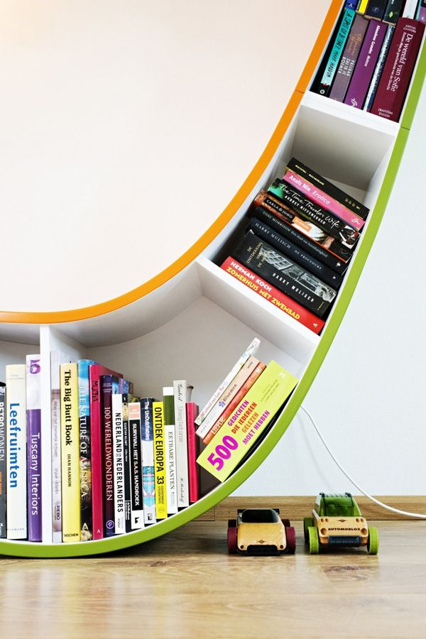Creative Bookworm Bookcase By Atelier 010 6 Books Library Pinterest