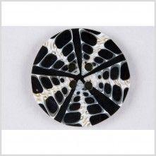 80L/50.8mm Black/White Natural Shell Button