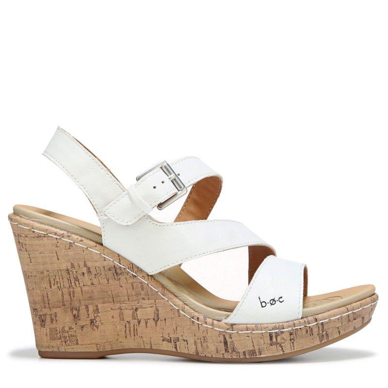 f076abf20c9 B.O.C. Women s Schirra Wedge Sandals (White) - 11.0 M
