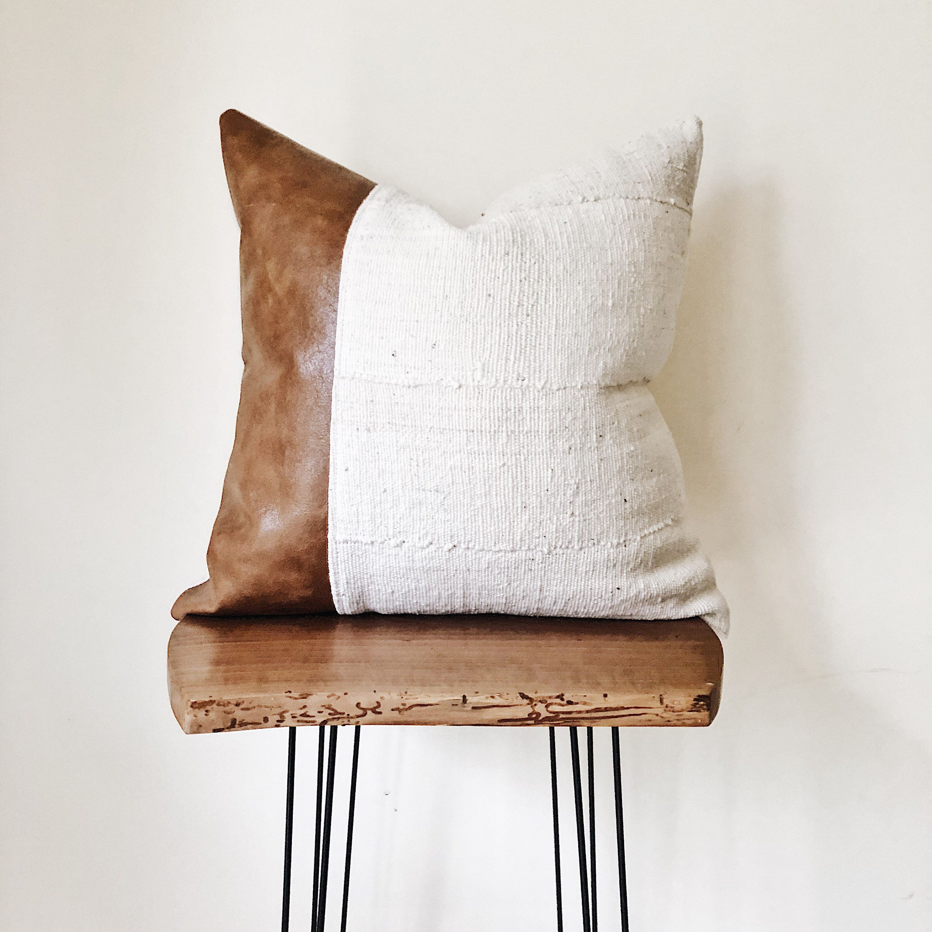 Mudcloth Pillow Cover Authentic Leather Etsy Leather Throw Pillows Mudcloth Pillow Pillows