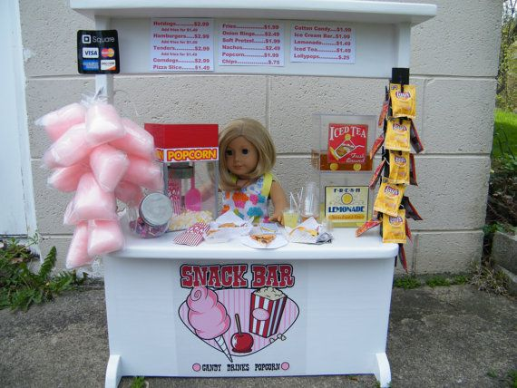 PLACE YOUR ORDER For American Girl 18 Doll Snack Bar Concession Stand Items #americangirlhouse