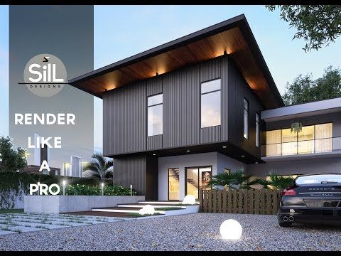Sill Designs 3dsmax Vray Tutorial Exterior Rendering Youtube Sketches Pinterest 3ds Max