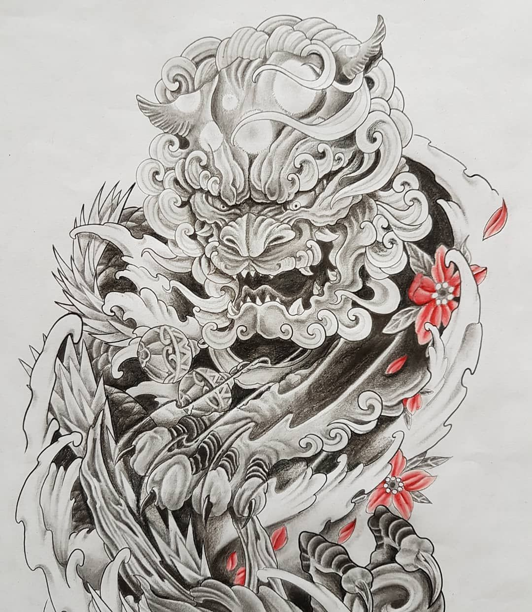 Image May Contain Plant Foo Dog Tattoo Foo Dog Tattoo Design Japanese Tattoo Art