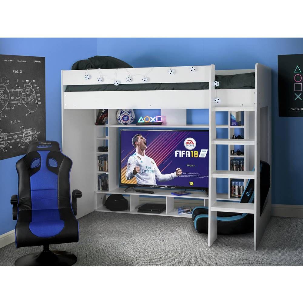 Buy argos home gaming high sleeper and kids mattress