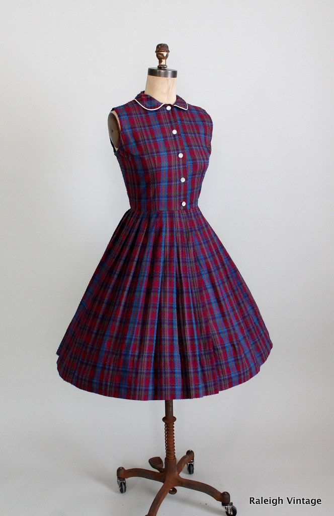 Vintage 1950s/1960s Schoolgirl Plaid Sundress. | Vestidos ...