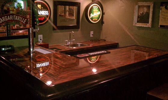 Incroyable Enchantment Copper Basement Bar Top