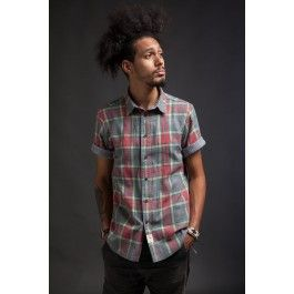 Stock Manufacturing Company - Green Plaid Reversible Shirt