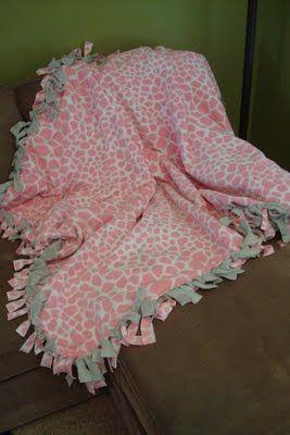 39107f498a Fleece Tie Blanket Tutorial - love these blankets
