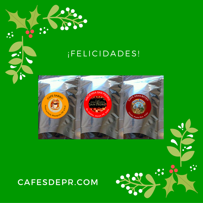 UN SURTIDO DE LAS TRES MARCAS DEL MES: CAFÉ HACIENDA SAN PEDRO, CAFÉ SABINO Y CAFÉ GRAN BATEY.  EN PAQUETES DE 6.6OZ CADA UNO. PUEDES ESCOGER EL CAFÉ EN GRANO O MOLIDO.  PRECIO ESPECIAL DE $28.99 + S/H.