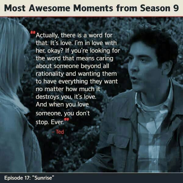 Himym Love Quotes Adorable Himym Season 48 Ted Mosby Quote On What Love Is Quote Joke