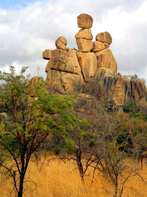 Photo of Zimbabwe's natural wonders – Mother and Child Rock – unique balancing rock forma…