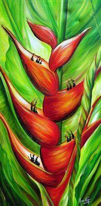 Flor Ave Del Paraiso Para Pintar Cuadros Buscar Con Google