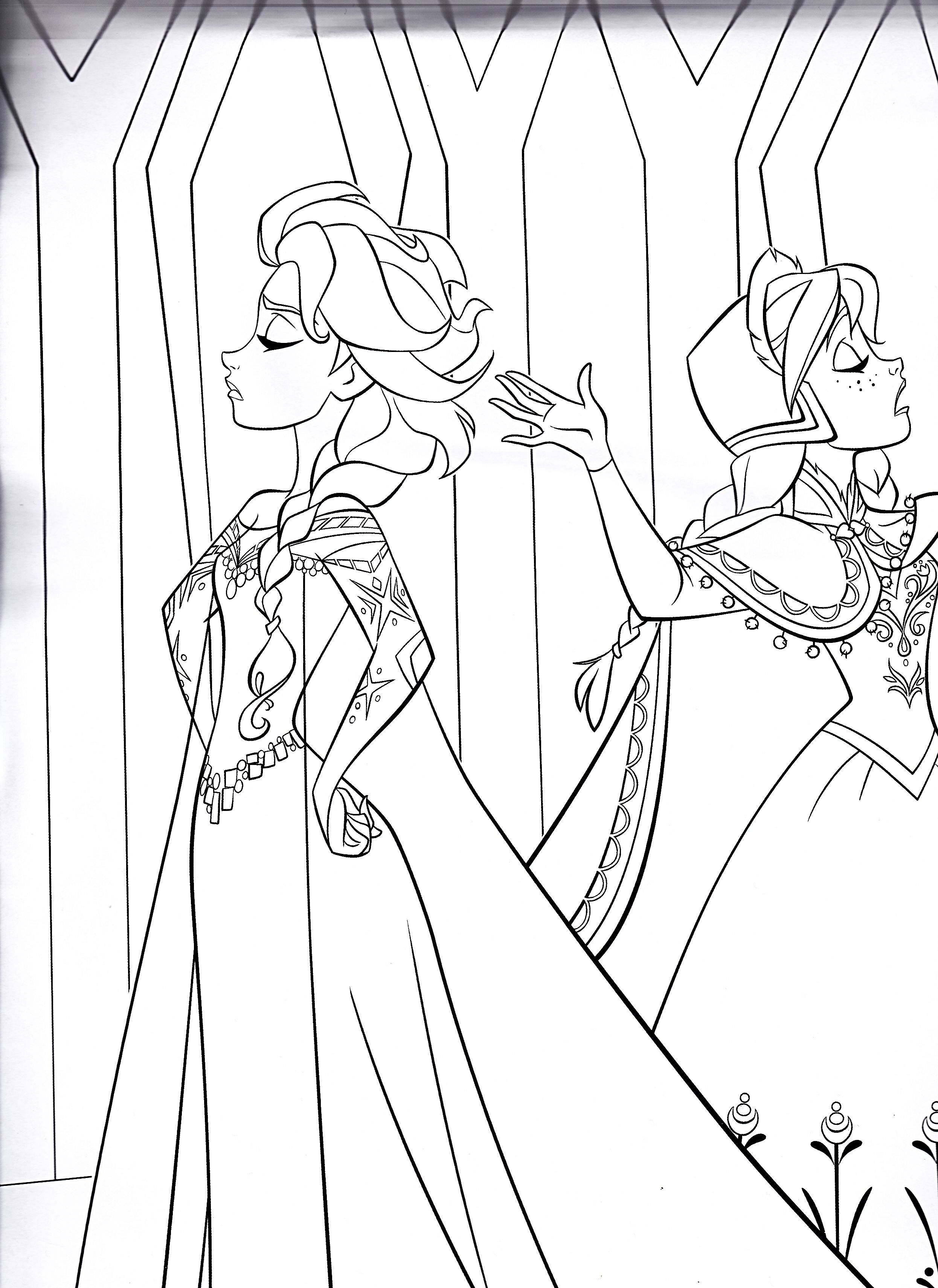 Elsa and anna colouring page book projects to try pinterest elsa