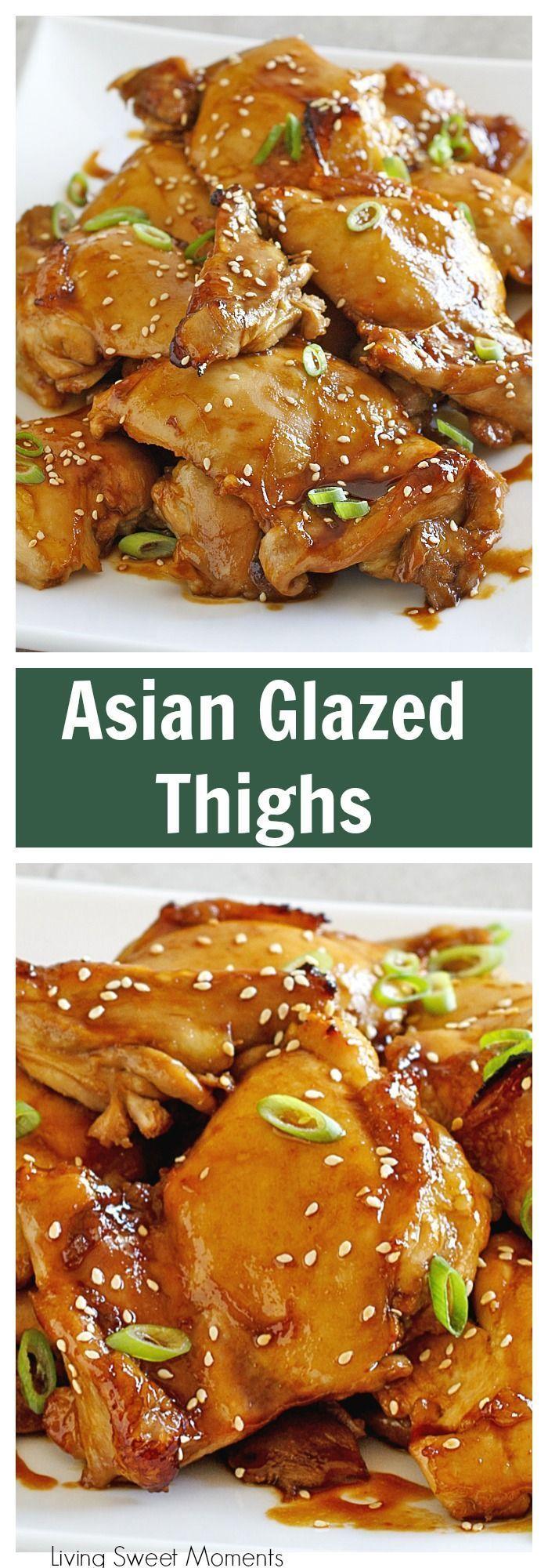 Asian Glazed Chicken Thighs - This easy dinner recipe ...