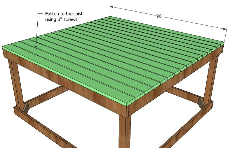 Build a Simple Playhouse Deck | Build a playhouse, Play ... on fort floor plans, easy fort plans, backyard fort plans, outdoor fort plans, elevated fort plans, play fort plans, tree fort plans, wood fort plans, fort ideas, 2 story fort plans, fort designs, fort bed plans, playground fort plans, fort swing set plans,