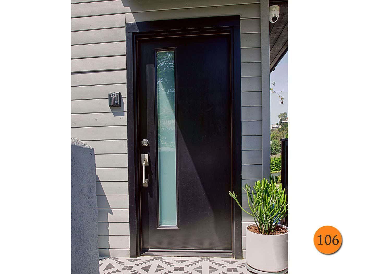 Modern 32 X80 Plastpro Dms1l Fiberglass Exterior Door Installed In Los Angeles Ca Modern Exterior Doors Contemporary Entry Doors Entry Doors