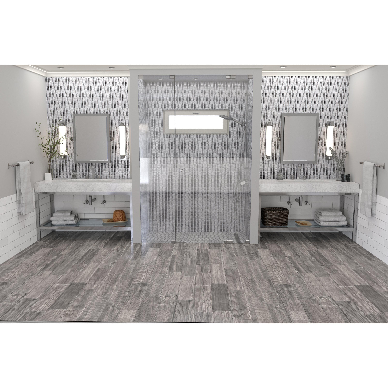 Lumber Gray Wood Plank Porcelain Tile Floor Decor In 2020 Grey Wood Gray Porcelain Tile Floor Decor
