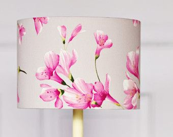 Grey lamp shade pink lampshade floral by shadowbrightlamps on etsy grey lamp shade pink lampshade floral by shadowbrightlamps on etsy mozeypictures Gallery