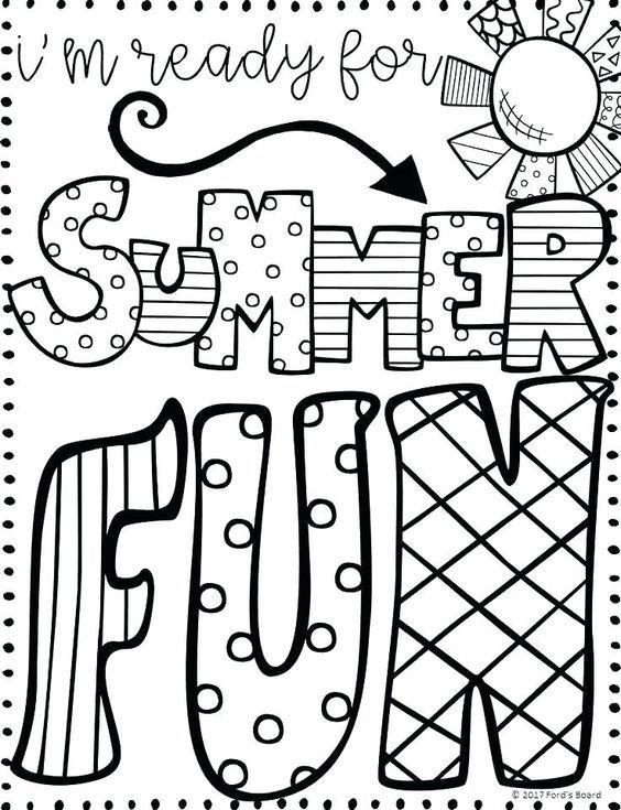 Pin By Lety On Kindergarten Teacher School Coloring Pages Summer Coloring Pages Summer Coloring Sheets