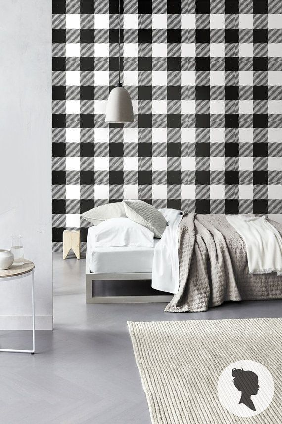 Gingham Removable Wallpaper Buffalo Check Plaid Self Etsy Bedroom Furniture Sets Cubicle Makeover Living Room Office