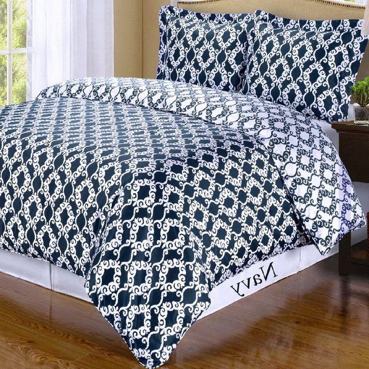 moroccan medallion navy blue white duvet cover set navy blue white bedding white duvet. Black Bedroom Furniture Sets. Home Design Ideas