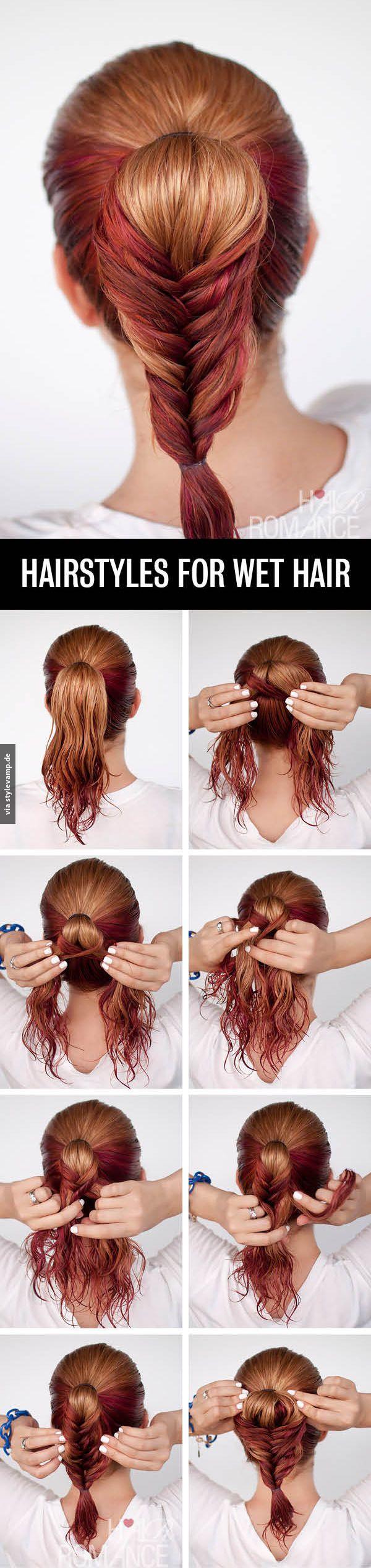 Hairstyle For Wet Hair 3 Haar Styling Hubsche Frisuren Haartutorial