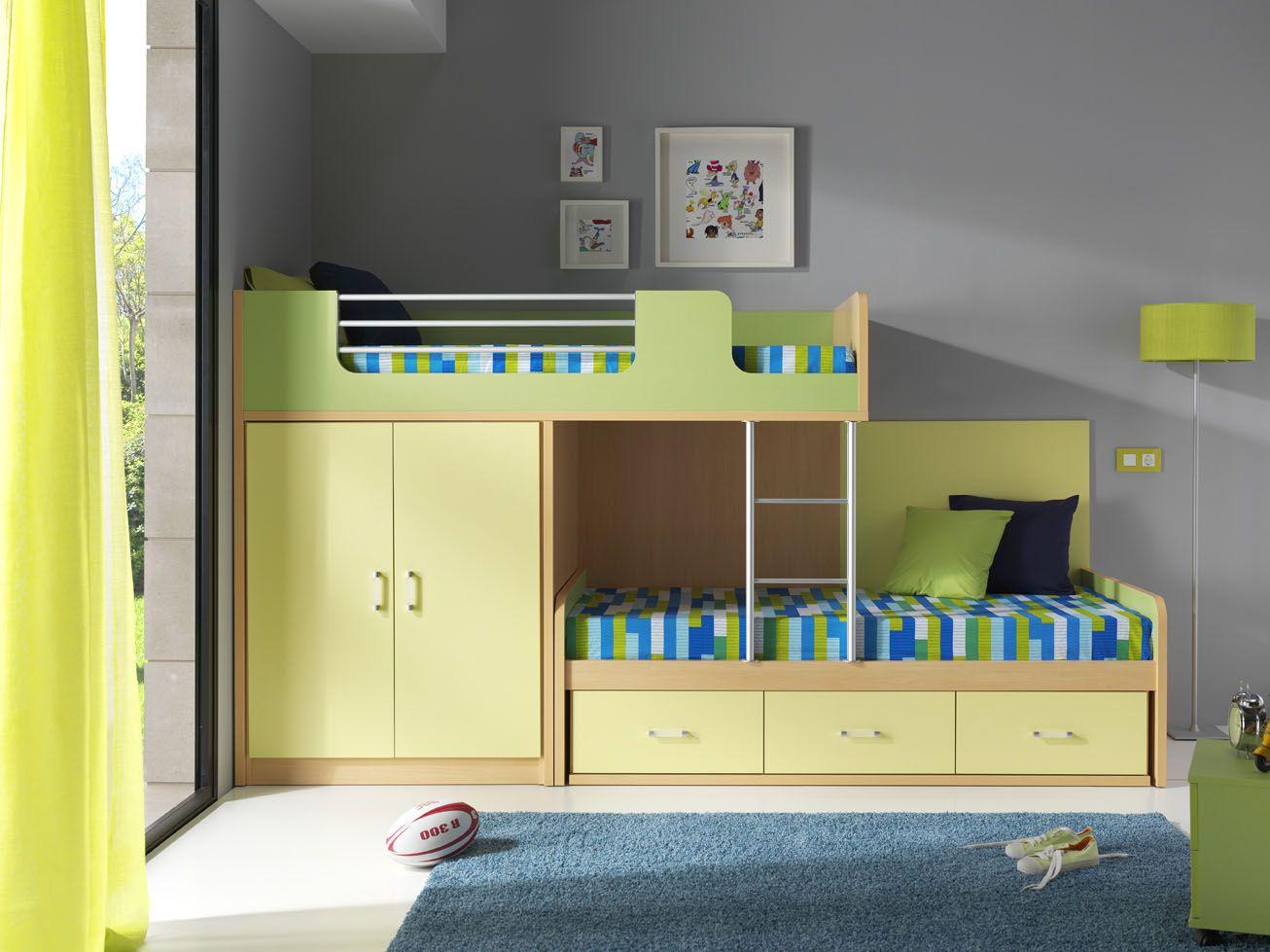 Dormitorios Con Literas Juveniles Buscar Con Google Mi Cuarto  ~ Literas Juveniles El Corte Ingles