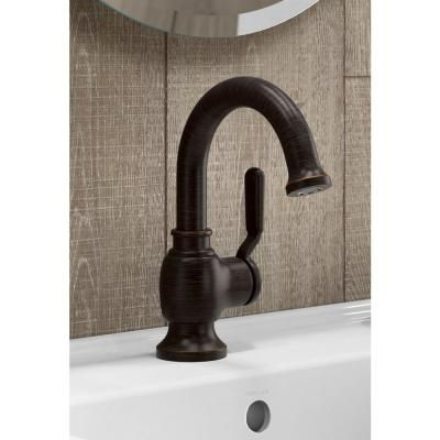 KOHLER Worth Single Hole SingleHandle Bathroom Faucet In Oil Rubbed - Kohler worth bathroom faucet
