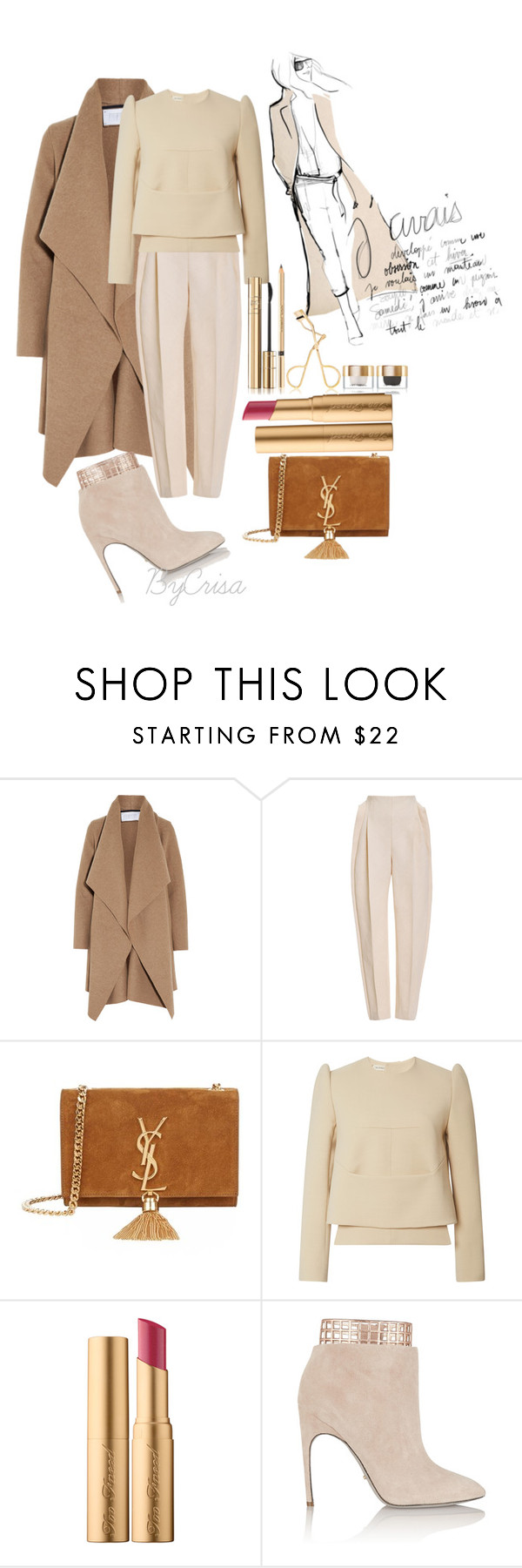 """Untitled #561"" by crisa-gloria-eduardo ❤ liked on Polyvore featuring Harris Wharf London, Delpozo, Garance Doré, Yves Saint Laurent, Too Faced Cosmetics, Sergio Rossi, Dolce&Gabbana, women's clothing, women and female"