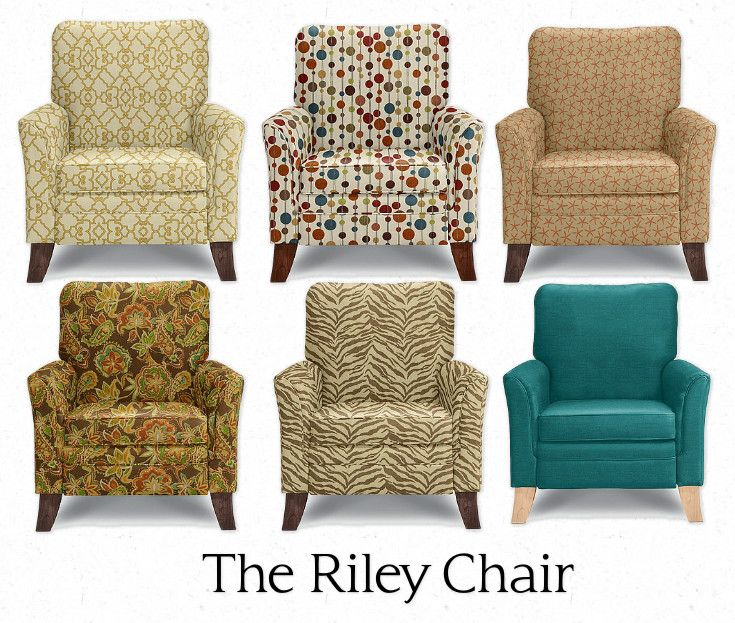 The Riley Chair By La Z Boy Furniture Over 1000 Fabric Leather