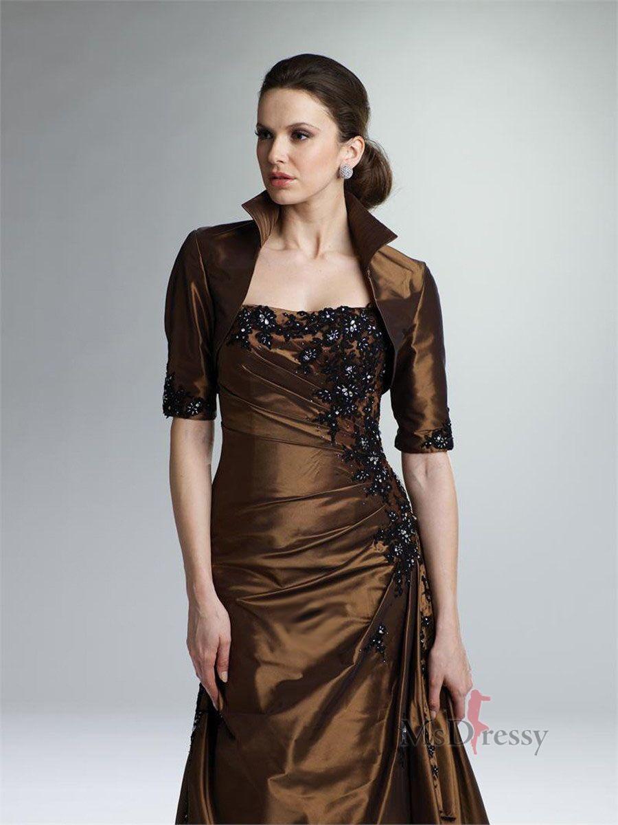 Resultados de la Búsqueda de imágenes de Google de http://www.msdressy.com/images/weddingpartydress/a-line-strapless-brown-applique-taffeta-short-floor-length-dress-wpmb0041.jpg