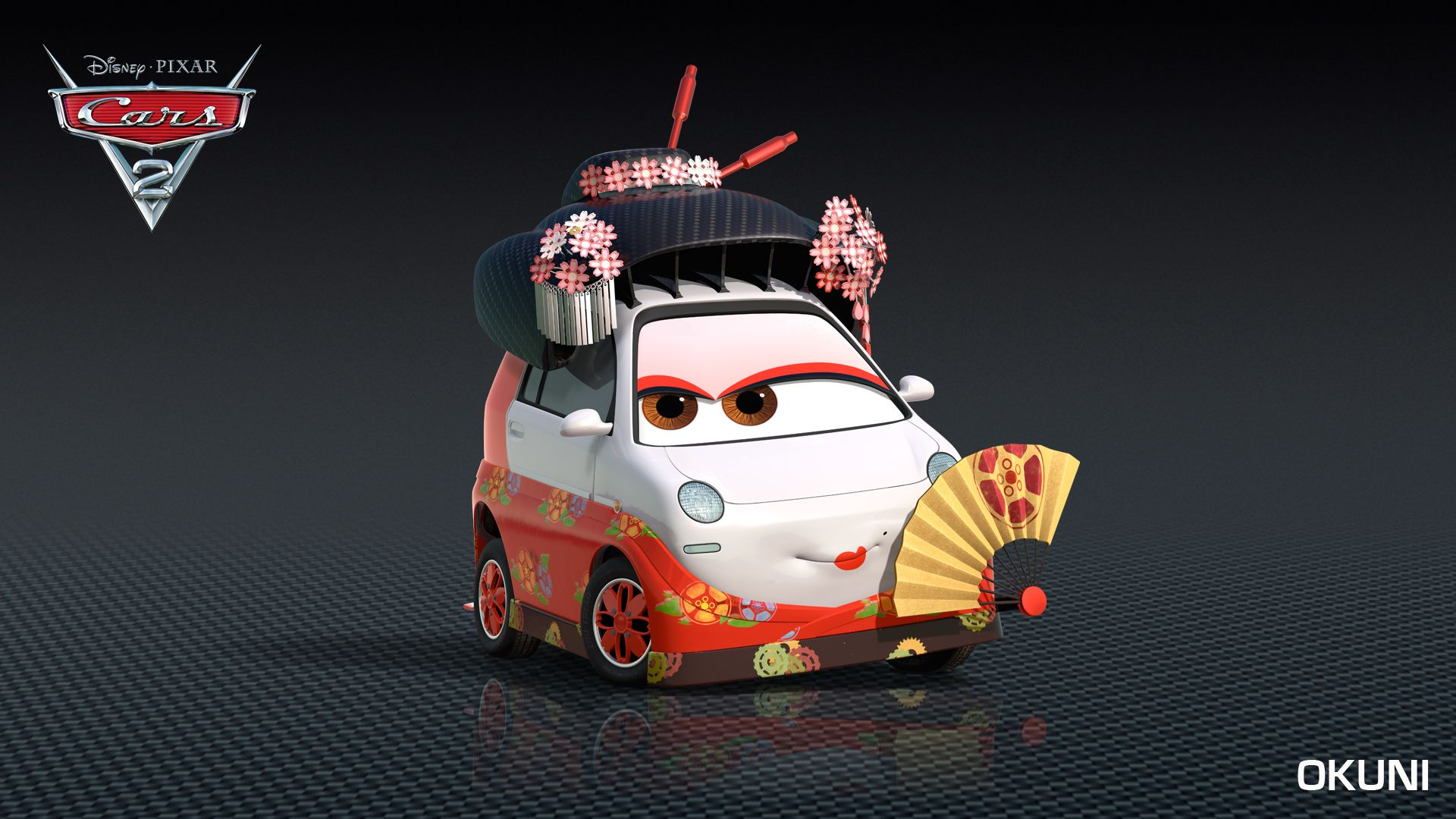 japanese support characters okuni cars 2 - Cars The Movie 2 Characters
