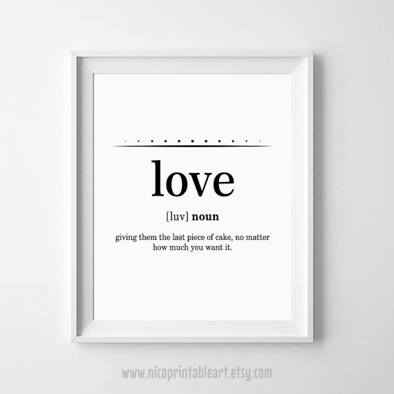 Love Definition, Funny Definition Print, Love Wall Print, Love Funny Definition, Love Quote Print, Modern Minimal Print by NicoPrintableArt