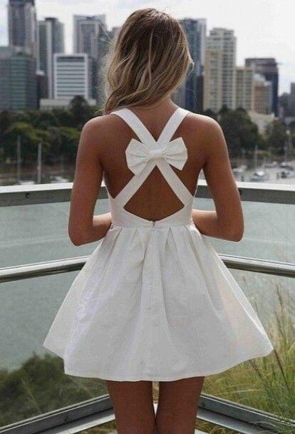 White ribbon dress