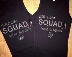 6 Birthday Squad Shirts Womens By BirthdaySquad Group T