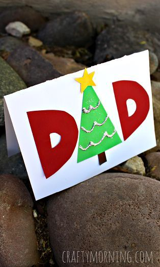 Make a Homemade Christmas Card for Dad - This is a fun craft the kids can  make! #Gift idea | CraftyMorning.com - Make A Homemade Christmas Card For Dad - This Is A Fun Craft The