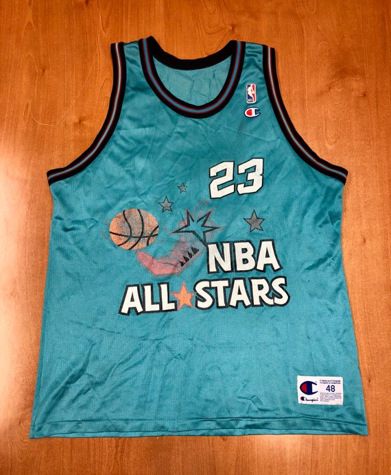 6b4755dfaa6 Vintage 1996 Michael Jordan NBA All Star Game Champion Jersey Size 48  scottie pippen shaquille o'nea