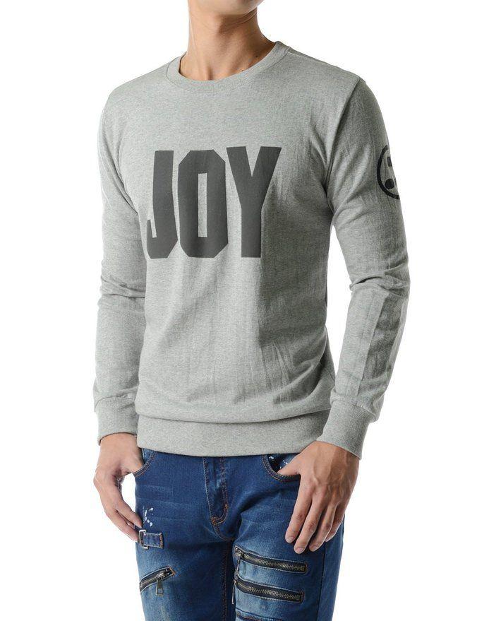 (RDLT34) Essential Casual Light Weight JOY Graphic Long Sleeve Sweatshirts | Amazon.com