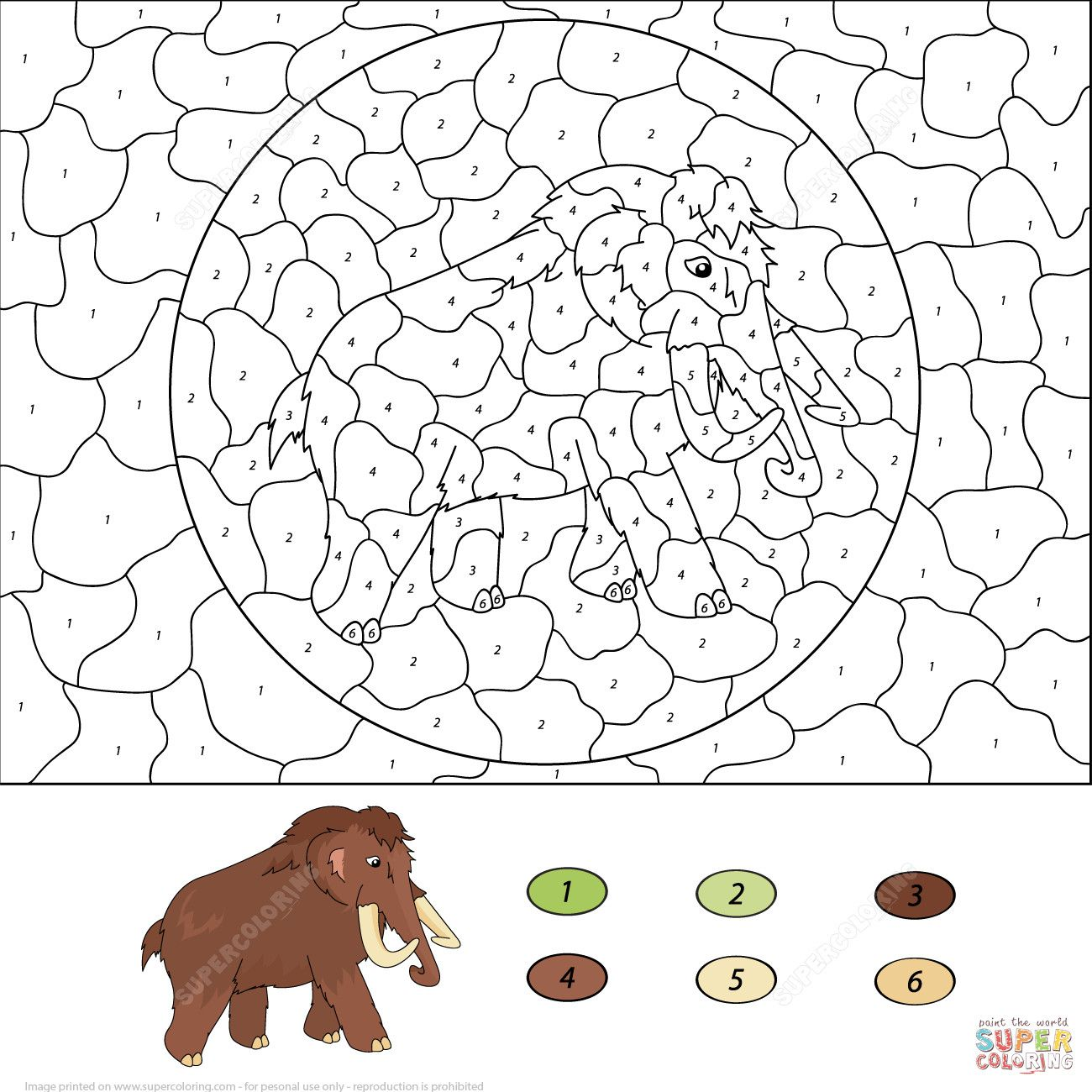 10 Images Of Woolly Mammoth Coloring Pages Coloring Images