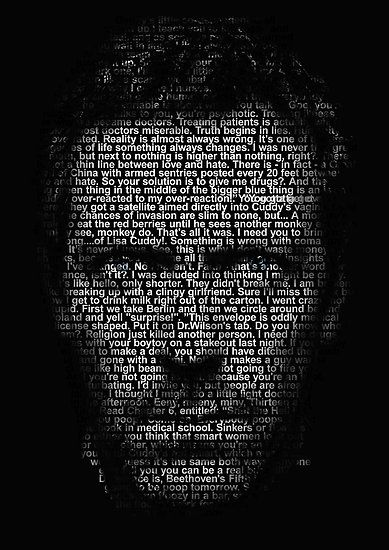Hugh Laurie Image Made Up Of All Dr Gregory House S Quotes