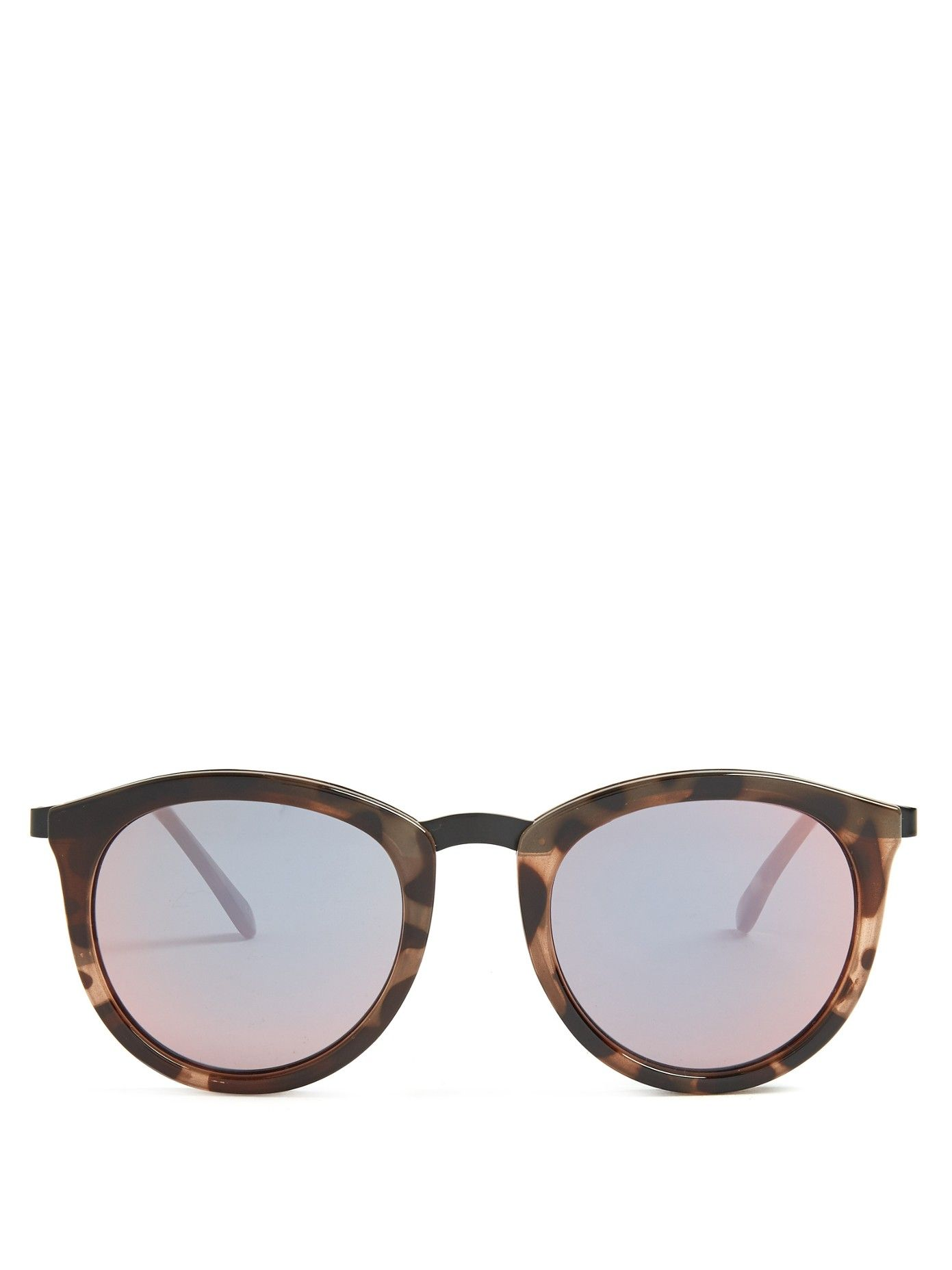 ece9d1fd8a0 Le Specs s tonal-brown tortoiseshell acetate No Smirking sunglasses have  slender rounded frames that feel ultra contemporary. They re finished with  cool ...