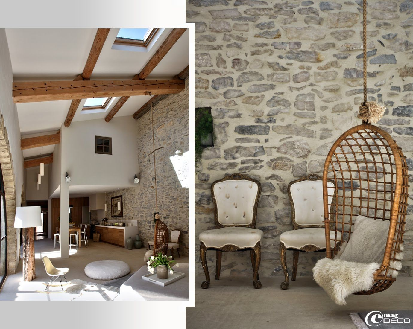 r habilitation esprit loft dans le gard proven al r alis e par marie laure helmkampf architecte. Black Bedroom Furniture Sets. Home Design Ideas
