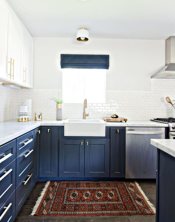 6 Kitchen Design Trends That Will Be Huge In 2017  Navy Cabinets Captivating Blue Kitchen Design 2018