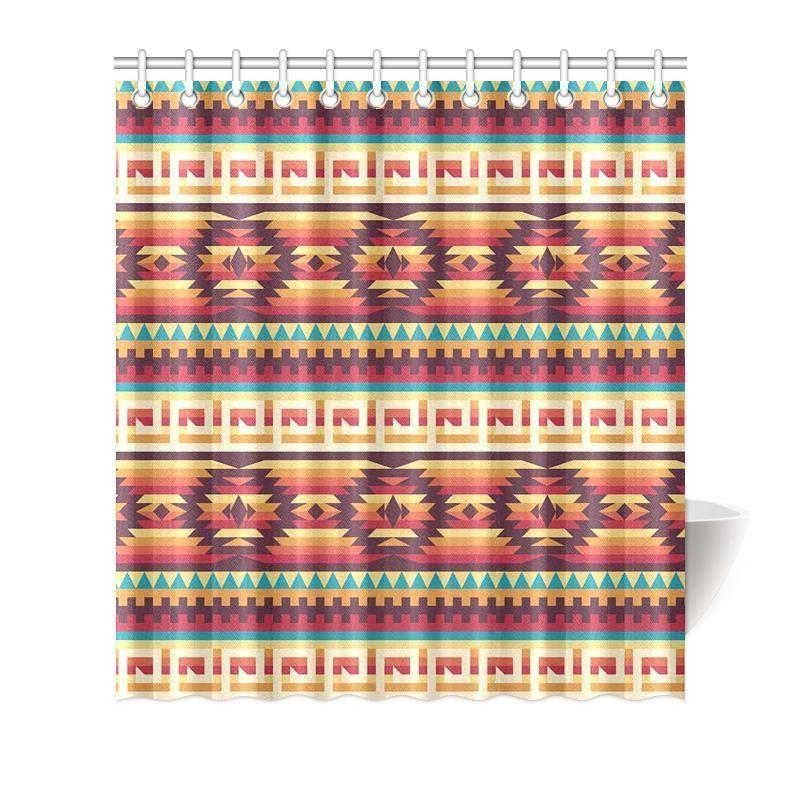 Aztec Native American Tribal Navajo Indians Print Bathroom Shower