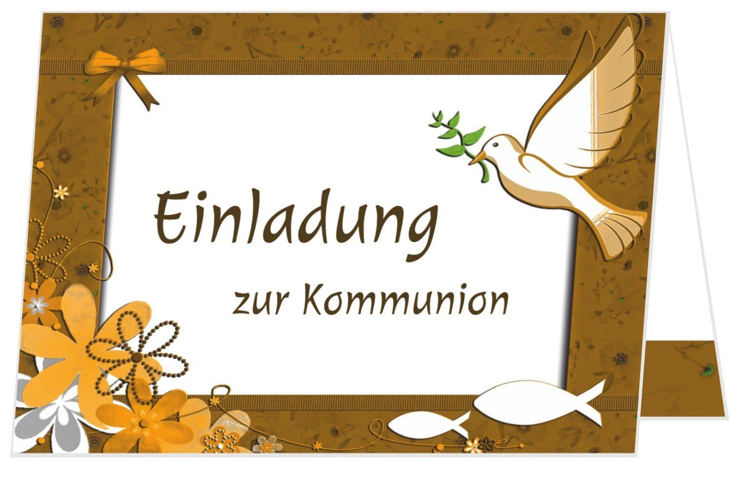 Kommunionkarte Als Klappkarte Einladung Einladung Kommunion Einladung Basteln Einladungen