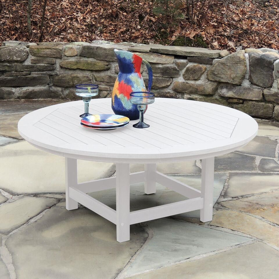Poly Round Coffee Table From Eco Friendly Digs Adirondack Table Poly Outdoor Furniture Sustainable Furniture [ 960 x 960 Pixel ]