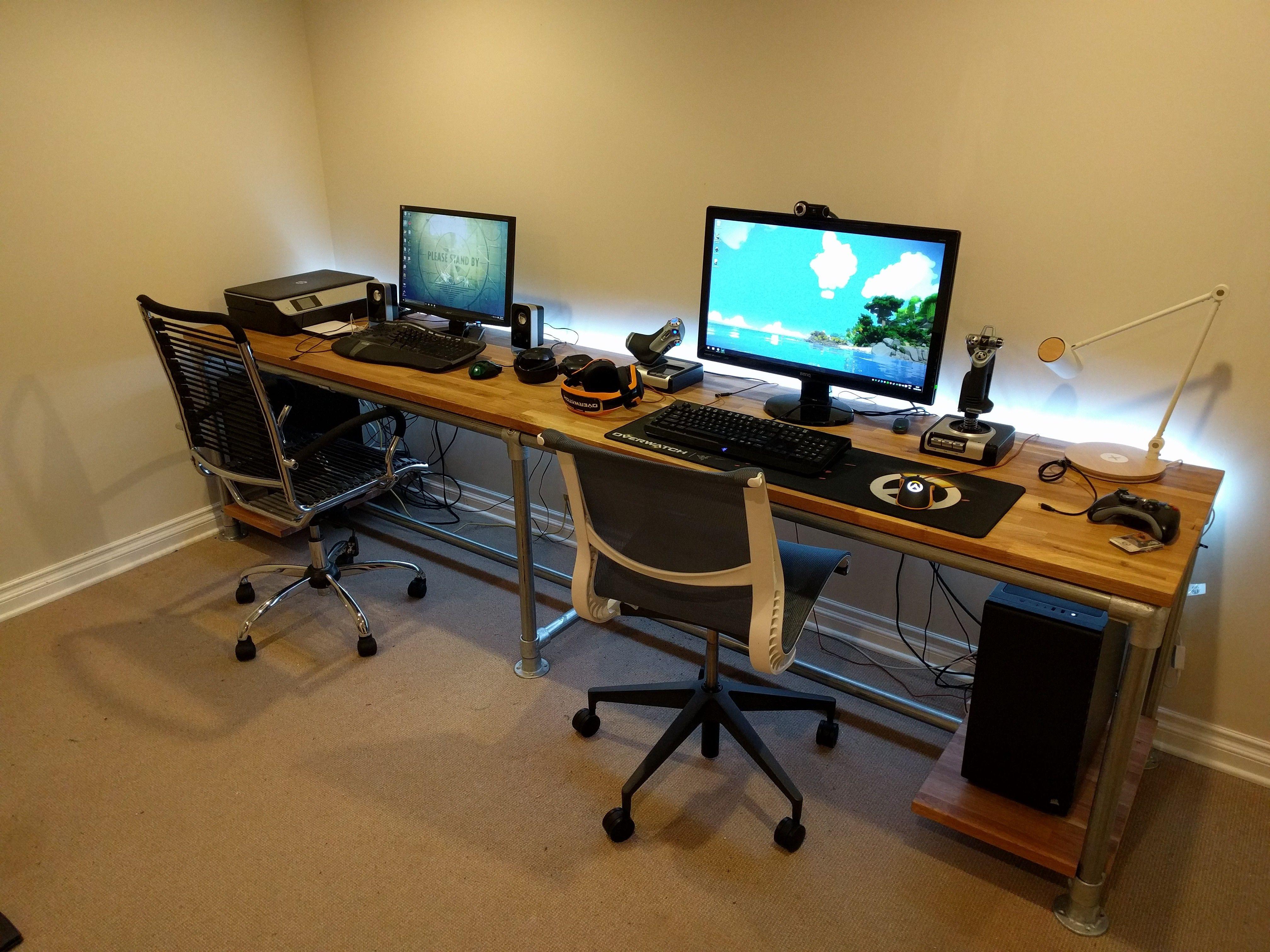 The final setup. Desk IdeasOffice IdeasComputer ...