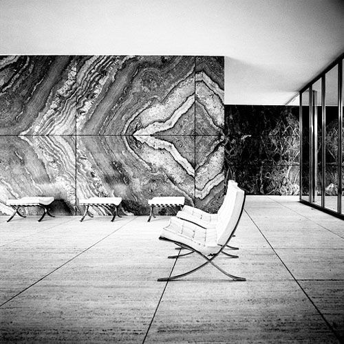 Mies Van Der Rohe Pavillon: The Barcelona Pavilion Designed By Ludwig Mies Van Der