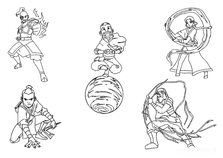 avatar airbender coloring pages Anime Pinterest Avatar airbender